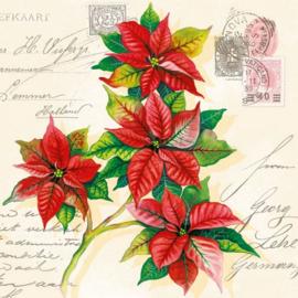 Servet kerstgroeten - 5 stuks - D13155