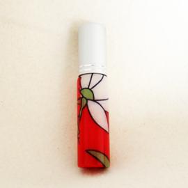 Parfumverstuiver met bloemen, rood/wit - D11599e