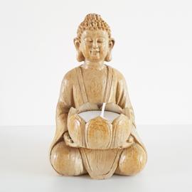 Boeddhabeeldje met waxinelichthouder - WD00045