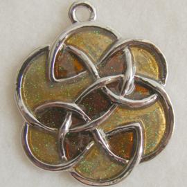 Hanger keltisch goudbruin - S10220