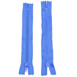 Rits 14,5 cm - blauw - niet deelbaar - D12397