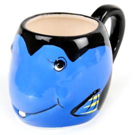 Mok vis blauw - D10959
