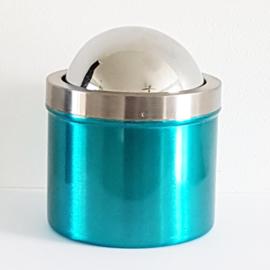 Asbak aquablauw met draaideksel - WD0001
