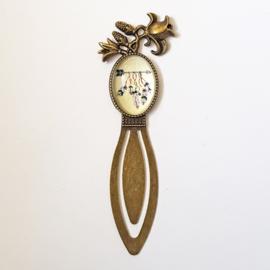 Boekenlegger bohemian veertjes - brons - TSH00111