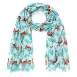 Sjaal met dierenprint - D14075
