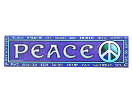 Bumpersticker Peace - D11117