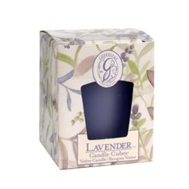 Geurkaarsje Lavender - (candle cube) Greenleaf