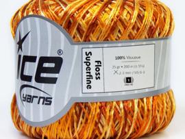 Ice Yarns Shine Star gold, brown, orange