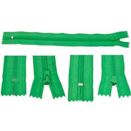 Rits 19 cm - groen - niet deelbaar - D12394