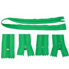 Rits 49 cm - groen - niet deelbaar - D12387