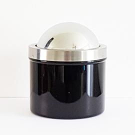 Asbak zwart met draaideksel - WD0001