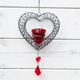 Hangend hart kandelaar - D12016