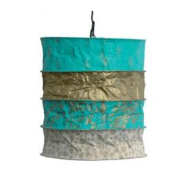 Lokta Lamp Saba turquoise/gold