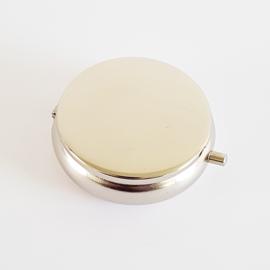 Zakasbakje rond mat zilver - D14038