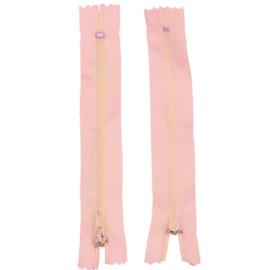 Rits 14,5 cm - roze - niet deelbaar - D12399