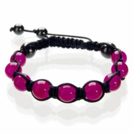 Shamballa armband roze - S10782