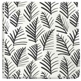 Servet blaadjes zwart/wit (5 stuks)