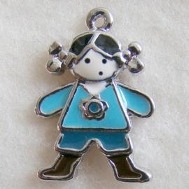 Bedel meisje blauw - S10264