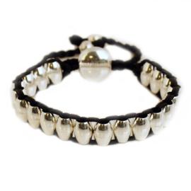 Lulu armband zilver/zwart - S11006