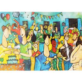 Kaart feest mannen - Sidedish - SD0027