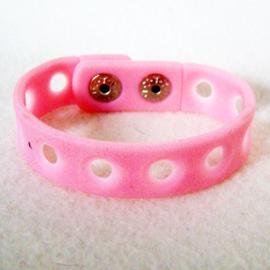 Jibbitz armband roze 15 cm - S11116