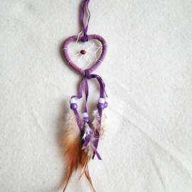 Dromenvanger hartje 5 cm lila - D10882d