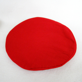 Klankschaalkussen rood, 15 cm - O10597