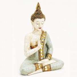 Zittende boeddha blauw, 29x19x10 cm - WD00028