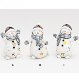 Windlicht sneeuwpop - WD00027
