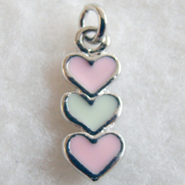 Bedel hartjes roze/creme - S10234