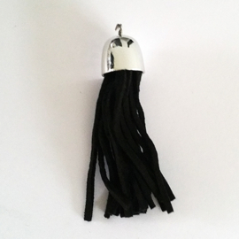 Kwastje zwart 66 mm - Z00524