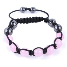 Shamballa armband roze - S10780