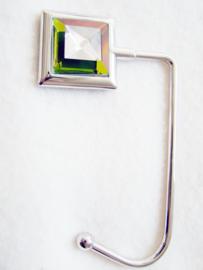 Tashaak vierkant facet vitrail - D10099