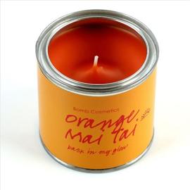 Geurkaars Orange Mai Tai in blik - BOMB Cosmetics