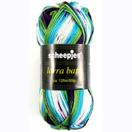 Larra Batik 7502 - blauw/paars/groen/wit - Scheepjeswol