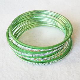 India Bangle armband groen - S11063