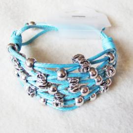 Armband gevlochten, blauw - S11047