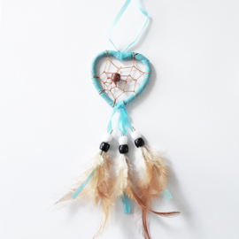 Dromenvanger hartje 5 cm lichtblauw - D10882ee