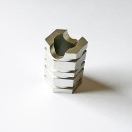 Sigarettendover hexagon zilverkleur - D13249
