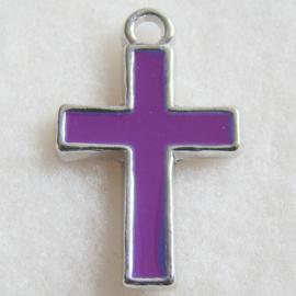 Bedel kruis, paarse epoxy - S10473