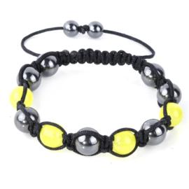 Shamballa armband geel - S10790