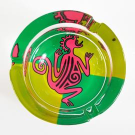 Chilling time asbak - groen/roze - D13230