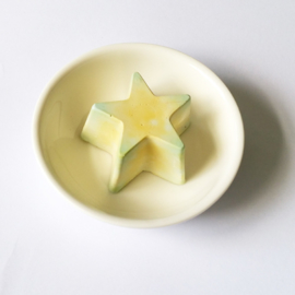 Geursteentje geel/groene ster - D12338