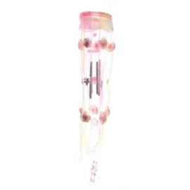 Windgong roze stroken baldakijn - D10903a