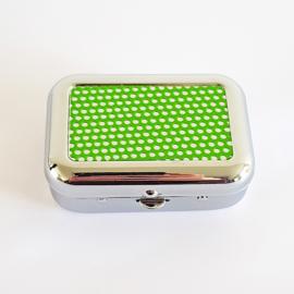 Zakasbakje rechthoek raster groen - D14030