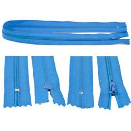 Rits 49 cm - blauw - niet deelbaar - D12389