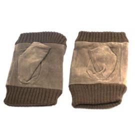Vingerloze handschoen lichtbruin - D13017