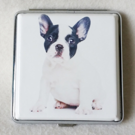 Sigarettenkoker hondje zwart/wit - D12668