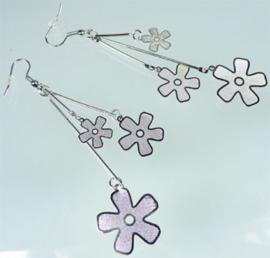 Oorbellen met bloemen - S10395