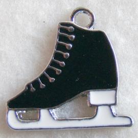 Bedel schaats zwart/creme - S10261